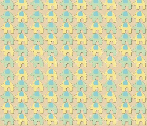 Oh Sweet Baby Elphant Parade  fabric by icarpediem on Spoonflower - custom fabric