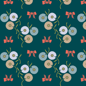 Pretty Floral on Teal