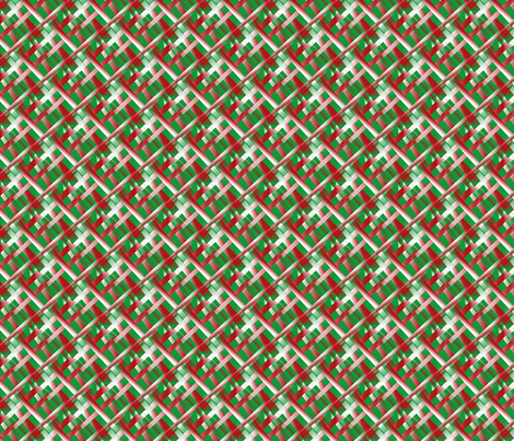 red_stacks_white_rods_on_green_background fabric by vinkeli on Spoonflower - custom fabric