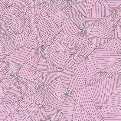 Gray Spiderwebs on Pink Background