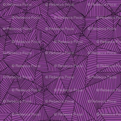 Black Spiderwebs on Lavander Purple Background