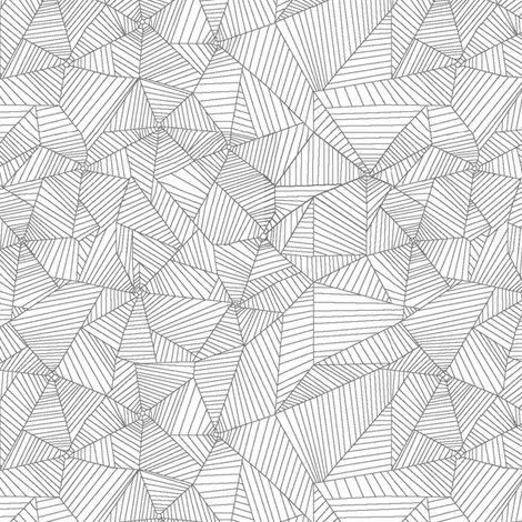 Gray Spiderwebs on White Background fabric by muddyfoot on Spoonflower - custom fabric