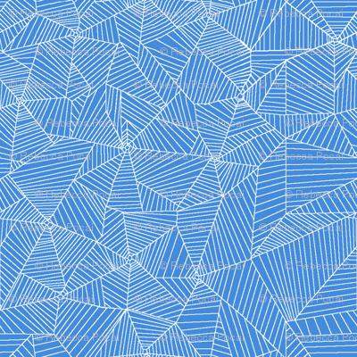 White Spiderwebs on Light Blue Background
