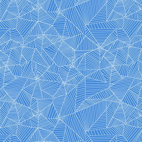 White Spiderwebs on Light Blue Background fabric by muddyfoot on Spoonflower - custom fabric