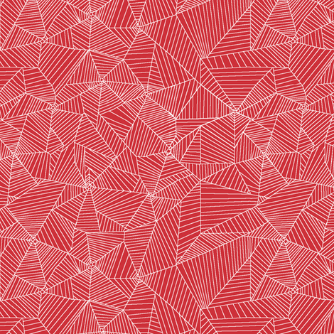 White Spiderwebs on Red Background fabric by muddyfoot on Spoonflower - custom fabric