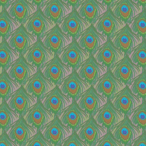 peacock_by_the_numbers_2e_woodsie fabric by glimmericks on Spoonflower - custom fabric