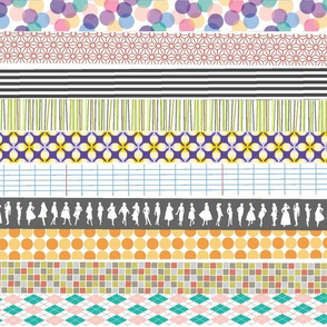Washi Tape || stripes deco fashion polka dots argyle Japanese ribbon crafting