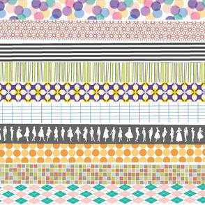 Washi Tape || stripes deco fashion polka dots argyle Japanese ribbon crafting