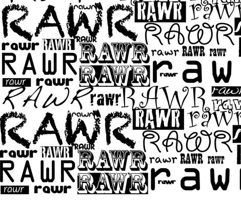 rawr! fabric by karmacranes on Spoonflower - custom fabric