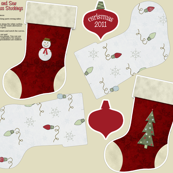 2011 Christmas Stocking Patterns for 1 yard
