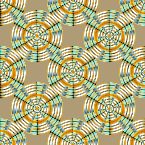 Medallions in 3-D fabric by joanmclemore on Spoonflower - custom fabric