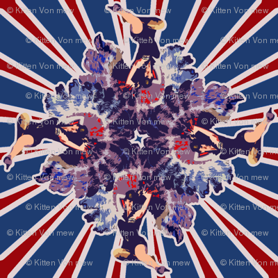Patriotic Burlesque Pinup