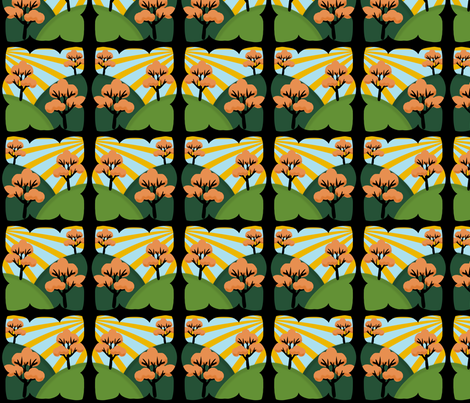 I thought I saw the thirties fabric by glanoramay on Spoonflower - custom fabric