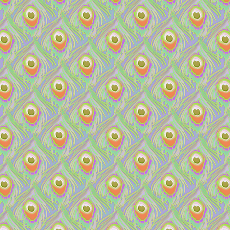 peacock_by_the_numbers sorbet fabric by glimmericks on Spoonflower - custom fabric
