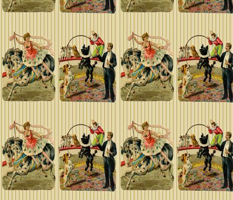 Vintage Circus Ring  fabric by icarpediem on Spoonflower - custom fabric
