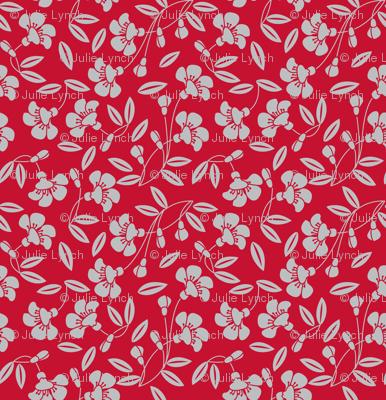 Japanese blossom red