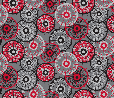 Japanese parasol fabric by cjldesigns on Spoonflower - custom fabric