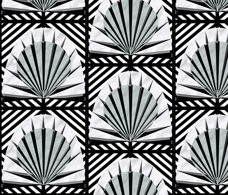 Deco fanlights fabric by glanoramay on Spoonflower - custom fabric