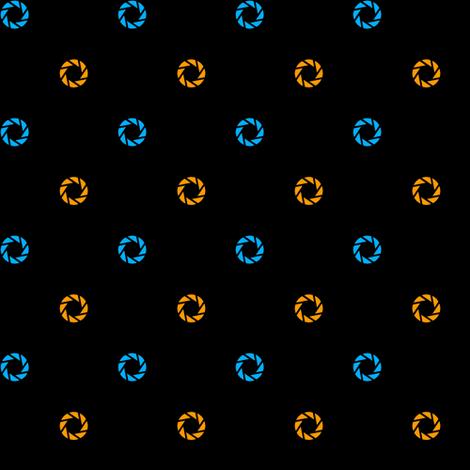 Aperture Dot (black) fabric by catimenthe on Spoonflower - custom fabric