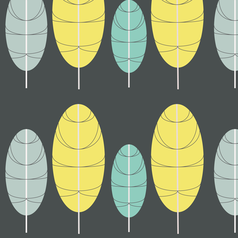 Feather Pops fabric by theladyinthread on Spoonflower - custom fabric