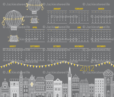 Tea Towel Calendar 2012: Night Time