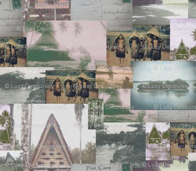 Vintage Palauan Postcard