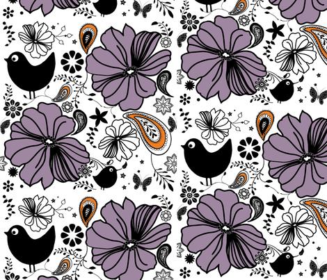 summer_birds fabric by snork on Spoonflower - custom fabric