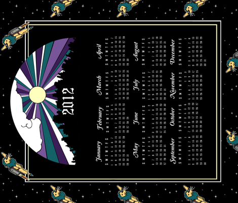 2012 Tea Towel Calendar II. fabric by pond_ripple on Spoonflower - custom fabric
