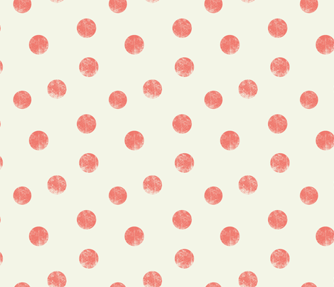 Big dots coral fabric by ravynka on Spoonflower - custom fabric