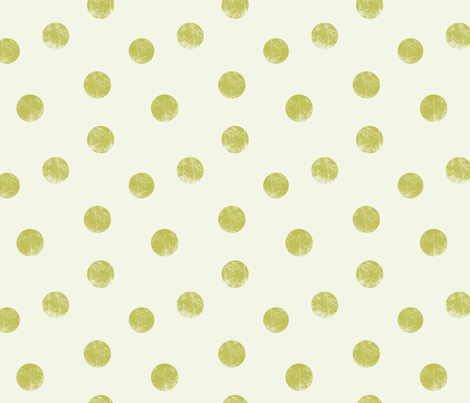 Big dots olive fabric by ravynka on Spoonflower - custom fabric