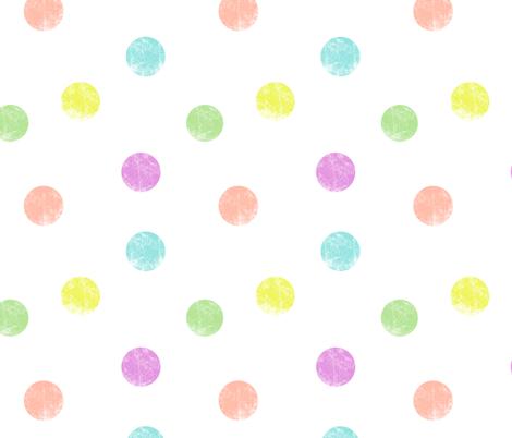 Big dots pastel fabric by ravynka on Spoonflower - custom fabric