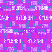 Personalised Name Fabric - Purple Pink Green