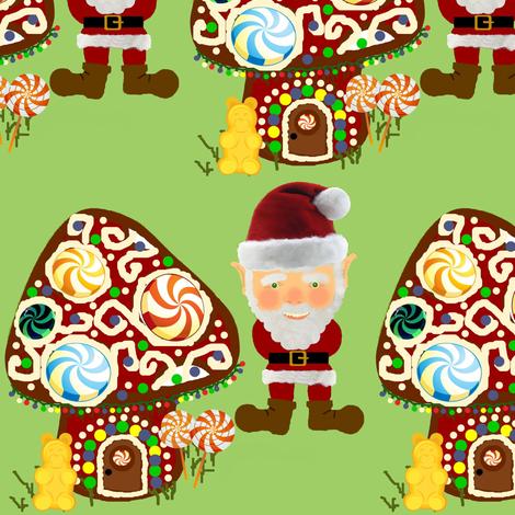 Gingerbread Shroom fabric by paragonstudios on Spoonflower - custom fabric