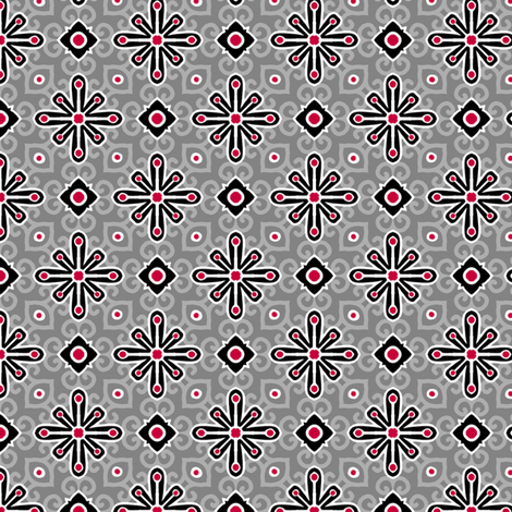 Matchsticks - Gray fabric by siya on Spoonflower - custom fabric