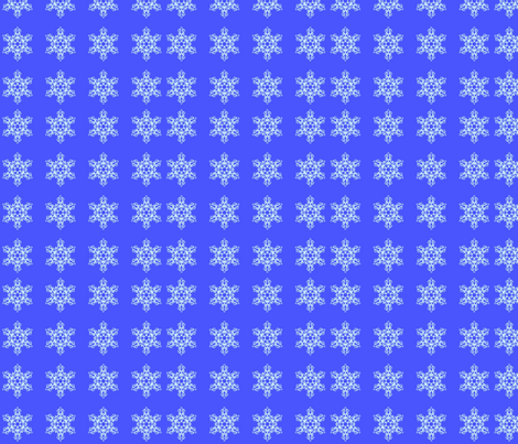 Snowflakes-ed fabric by charldia on Spoonflower - custom fabric