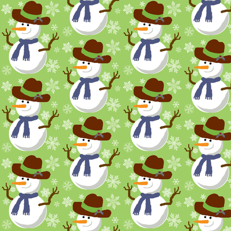 Mr Freezy  snowflakes fabric by paragonstudios on Spoonflower - custom fabric