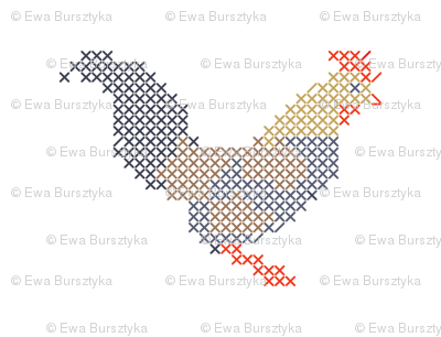 Cross stitch rooster