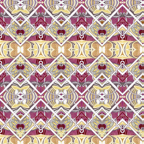 Egyptian Revival Zig Zag With a Cherry On Top fabric by edsel2084 on Spoonflower - custom fabric