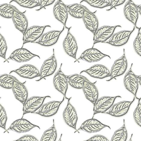 Leaves of Mercury fabric by joanmclemore on Spoonflower - custom fabric