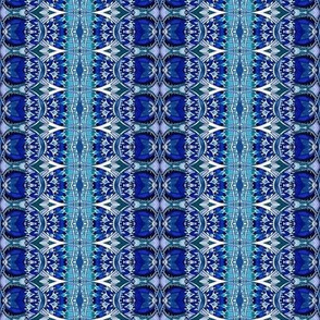 Deco Blues (vertical stripe)