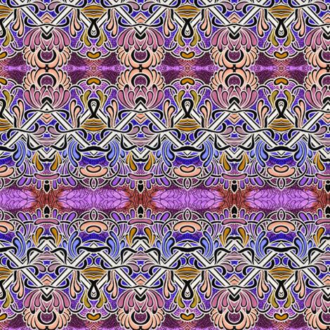 Zig Zag Horizontal Slime fabric by edsel2084 on Spoonflower - custom fabric
