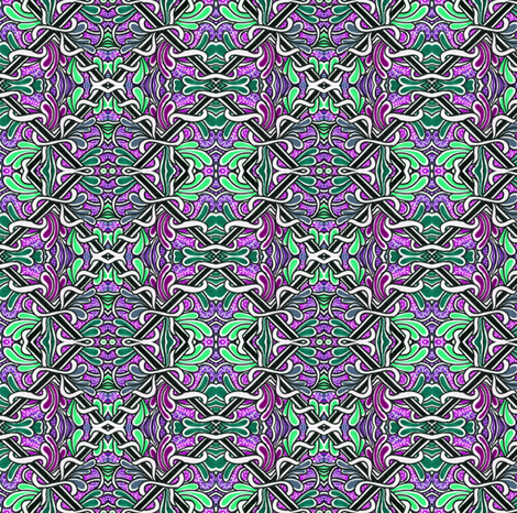 Succulent Garden Squares fabric by edsel2084 on Spoonflower - custom fabric