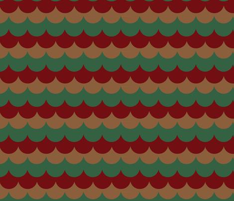 holiday-cedar-shingles-_2_ fabric by owlandchickadee on Spoonflower - custom fabric