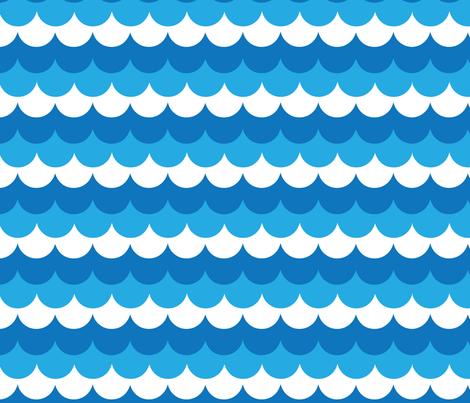 ocean fabric by owlandchickadee on Spoonflower - custom fabric