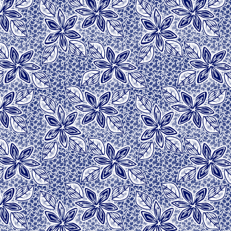 tropicale island blue fabric by glimmericks on Spoonflower - custom fabric