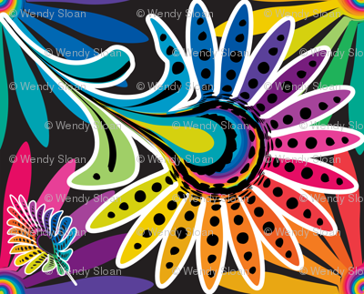Rainbow Feathers for Dolls