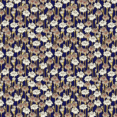 bachelor_buttons_and_daisies primary fabric by glimmericks on Spoonflower - custom fabric