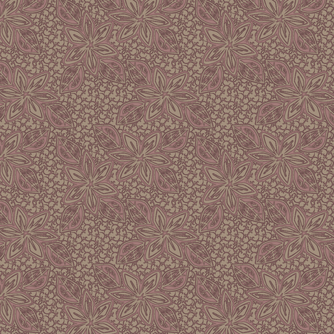 tropicale cranberry toast fabric by glimmericks on Spoonflower - custom fabric