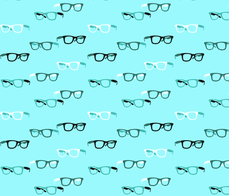 Hipster Glasses 2 fabric by yourfriendamy on Spoonflower - custom fabric
