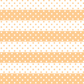 dotted stripes apricot and white